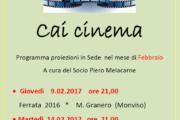 9-14 febbraio 2017 - CAI Cinema