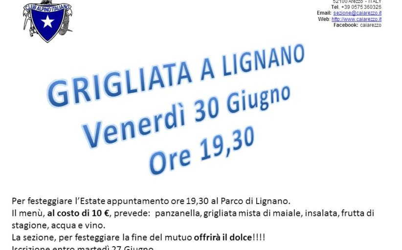 30 giugno 2017 Grigliata a Lignano