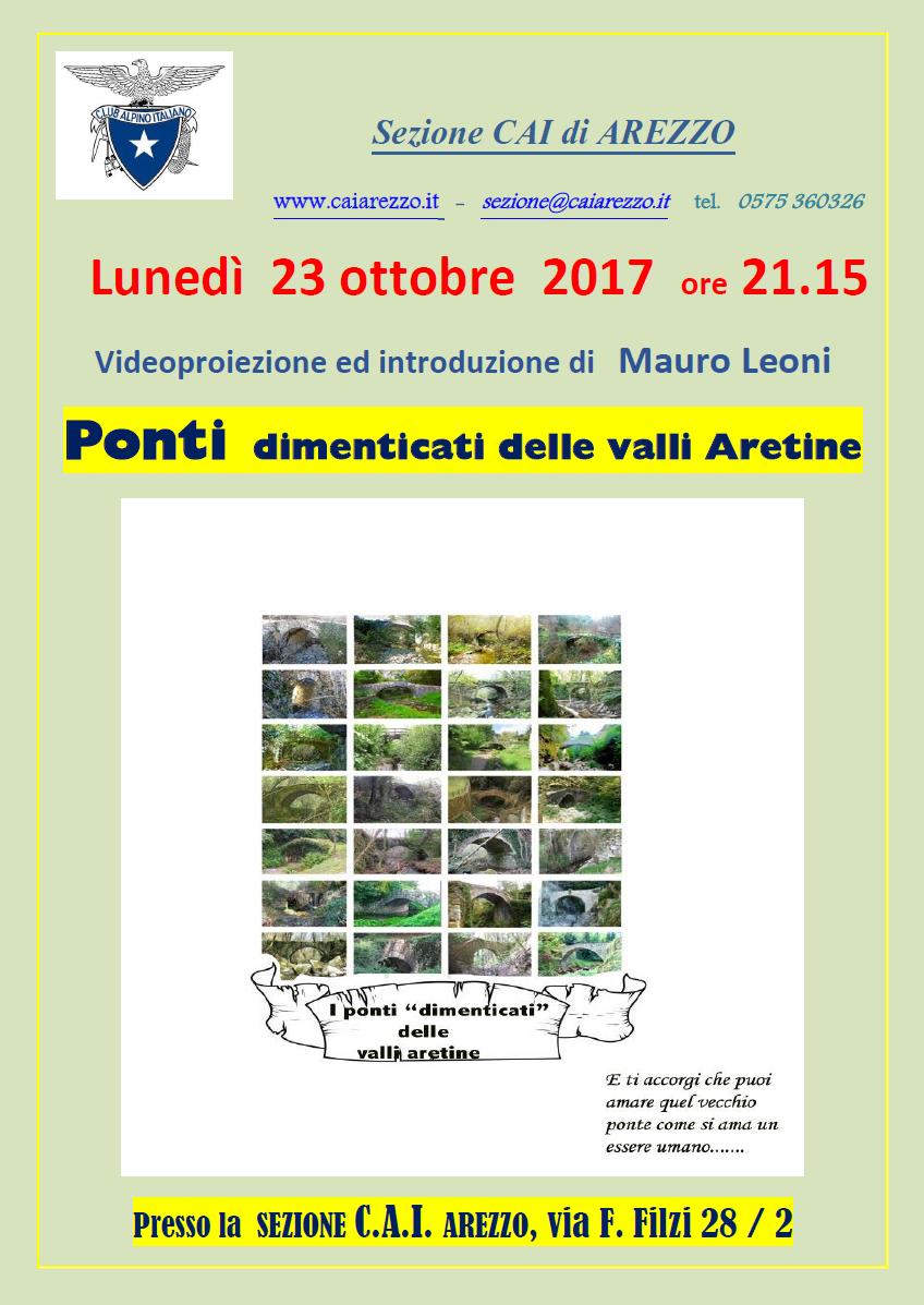 23 ottobre 2017  Ponti dimenticati delle valli aretine