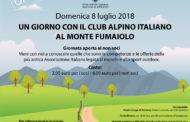 Domenica 8 luglio 2018 UN GIORNO CON IL CLUB ALPINO ITALIANO AL MONTE FUMAIOLO