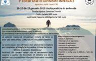 GENNAIO 2019: 1° CORSO BASE DI ALPINISMO INVERNALE CON GUIDA ALPINA