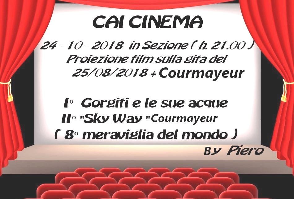 Mercoledì 24 Ottobre ore 21: CAI CINEMA