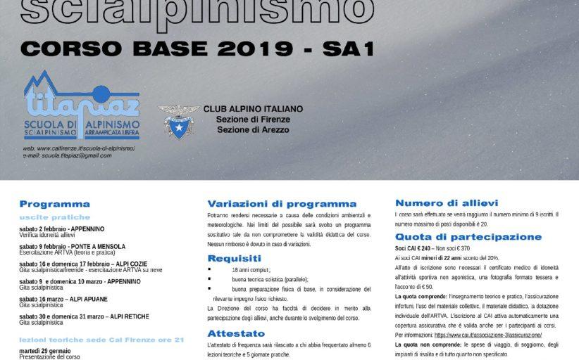 CORSO BASE DI SCIALPINISMO SA1