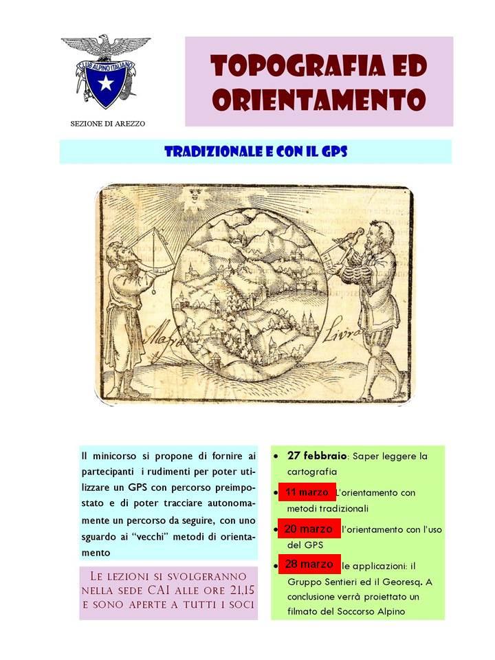 CORSO DI TOPOGRAFIA ED ORIENTAMENTO