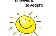 ORARIO DI APERTURA SEZIONE: RIAPERTURA IL 20 AGOSTO!!!